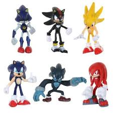 sonic cake topper sonic the hedgehog 6 pcs knuckles tails figure kids gift