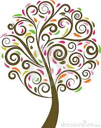 swirl clipart tree pencil and in color swirl clipart tree