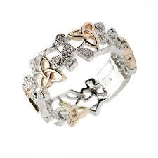 ladies rings jewellery images Shamrock trinity filigree ladies diamond ring claddagh jewellers jpg