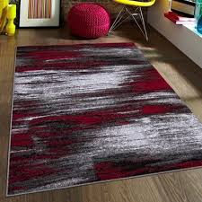 bedroom allstar rugs red area rug reviews wayfairca black and grey