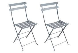 Grey Bistro Chairs Storm Gray Bistro Metal Chairs Pair 1932972 Entertainment