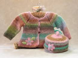 garden fairy hand knit u0026 felted baby sweater u0026 hat set organic