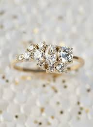 engagement ring right home bario neal cluster ring and ring