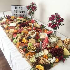 fruit table display ideas table size fruit cheese buffet appetizers platters on cheese and