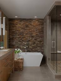 bathroom contemporary bathroom decor ideas with wricker bathroom accent wall bathroom contemporary with stacked stone accent