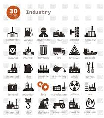 industrial theme set of industry theme icons vector clipart image 79148 u2013 rfclipart