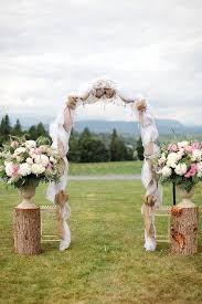 wedding arches hobby lobby burlap wedding arch with flowers burlap decorated wedding arches