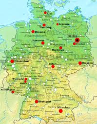 geographical map of germany germany physical map