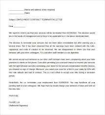 11 termination of services letter templates free sample