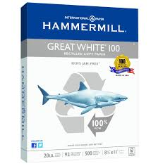 amazon com hammermill great white 100 recycled copy paper 20lb