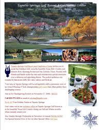 texas thanksgiving tapatio springs golf resort blog