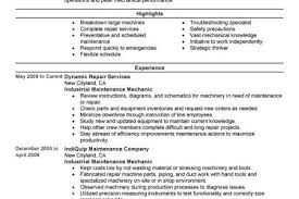 Industrial Maintenance Resume Examples by Resume Building Service Reentrycorps