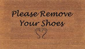 Coir Doormat Wipe Your Paws Please Remove Your Shoes Door Mat Housewarming Gift Coir