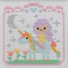 unicorn cross stitch completed cross stitch unicorn nursery