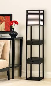 Shelf Floor Lamp Tamber Etagere Floor Lamp With Shelf And Drawers Amazon Com