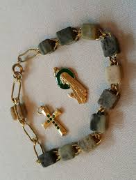 connemara marble rosary details about connemara marble rosary bracelet gold cross