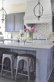 brick backsplash kitchen gray brick backsplash grey kitchen faux and white cabinets winning
