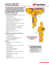 hercu link chain hoist series ingersoll rand pdf catalogue
