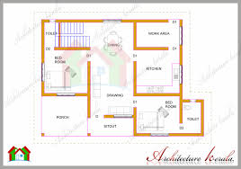 Kerala Home Design Plan And Elevation 1200 Square Feet Two Bedroom House Plan And Elevation