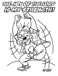 the joy of the lord is my strength u201d cartoon u0026 coloring page