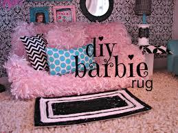 barbie rug and house decor a girl and a glue gun
