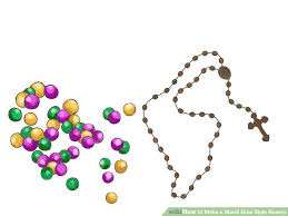 how to make a rosary how to make a mardi gras style rosary 7 steps with pictures