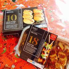 m u0026s christmas party food 2015 christmas tree pizzas churros