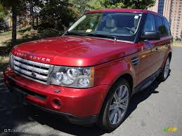 land rover red 2008 rimini red metallic land rover range rover sport supercharged