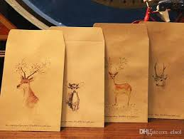 discount wrapping paper wholeasle 4 retro deer style small kraft bitty bags envelopes