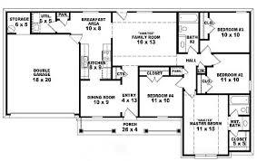 one house blueprints amazing one floor 4 bedroom house blueprints intended bedroom