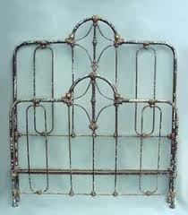 Shabby Chic Metal Bed Frame by Hamilton Iron Headboard By Wesley Allen Textured Copper Moss