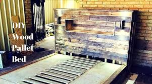 Headboards With Built In Lights 42 Diy Recycled Pallet Bed Frame Designs