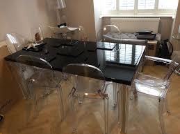 kartell glossy dining table designer kartell top top dining table 160 x 80cm black high gloss