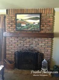 How To Lay Brick Fireplace by Diy Wood Mantel Painted Vintage