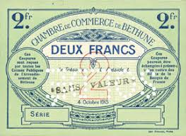 chambre de commerce bethune banknotes emergency notes béthune 62 chambre de commerce