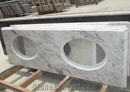 Vanity Tops With Sinks Indian Popular Cheap Granite White Galaxy Bathroom Countertops