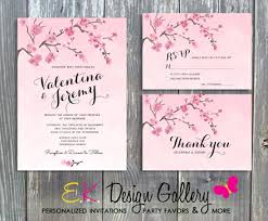 cherry blossom wedding invitations invitations