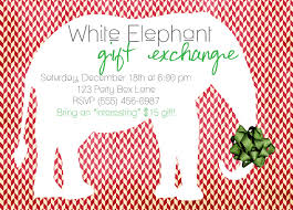 white elephant party invitations u2013 gangcraft net
