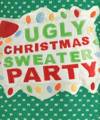green ugly christmas sweater party