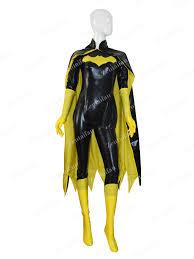yellow u0026 black batgirl female shiny superhero costume sc425 us