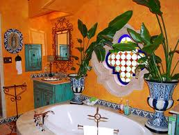 mexican kitchen with orange walls and ornate mirror colorful and mexican kitchen with orange walls and ornate mirror