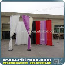 Chiffon Drape Rk Event Wedding Aluminum Backdrop Stand Pipe Drape Party Events