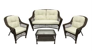 Veranda Metal Patio Loveseat Glider by Northlight Somerset 4 Piece Resin Wicker Patio Loveseat Chairs And