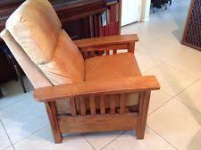 oak arts u0026 crafts mission style leather chairs ebay