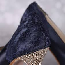 wedding shoes navy blue navy blue wedding shoes high heel peeptoe chagne heel
