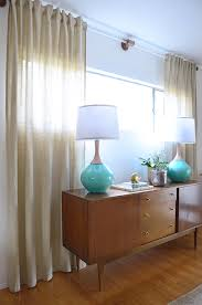 Turquoise Curtain Rod Diy Lucite Curtain Rod House Beautiful House And Mid Century Modern
