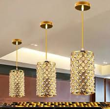 Crystal Bar Chandelier Chrome Gold New Modern Luxury Crystal Bar Suspension Lighting