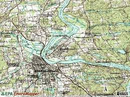 portland topographic map map
