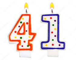 number birthday candles birthday candles number forty one stock photo vladvm 61354105