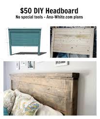 diy headboard ana white reclaimed wood headboard queen size diy projects